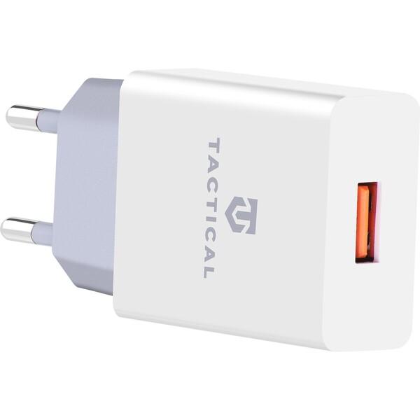 Tactical USB-A cestovní nabíječka bílá