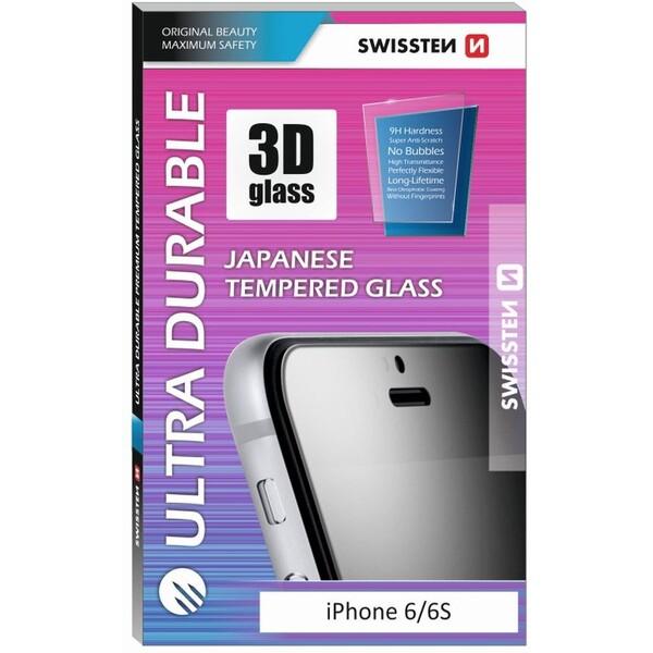 SKLO SWISSTEN ULTRA DURABLE 3D FULL GLUE GLASS HUAWEI P SMART 8595217461833 Černá