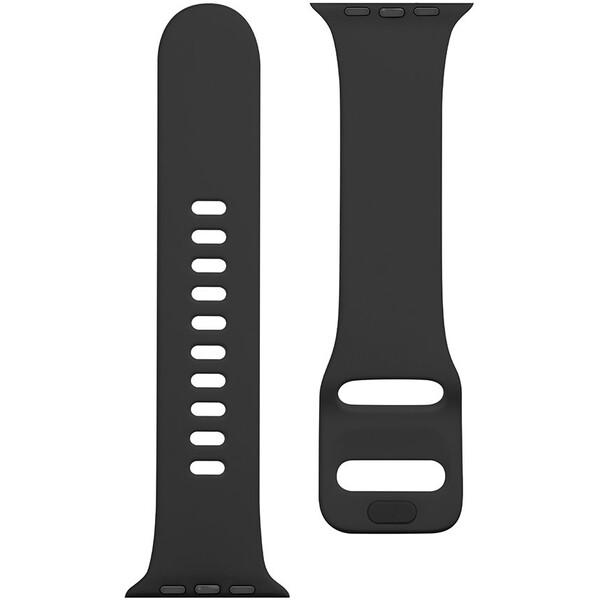Tactical silikonový řemínek s přezkou Apple Watch 42/44mm černý