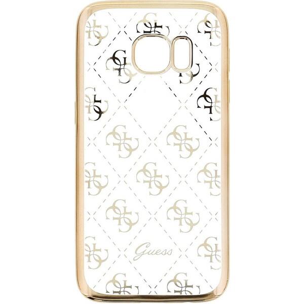 Pouzdro Guess 4G TPU Samsung G930 Galaxy S7 Zlatá