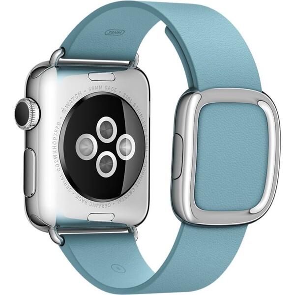 Apple Watch řemínek s moderní přezkou 38mm M ledňáčkově modrý (eko-balení)